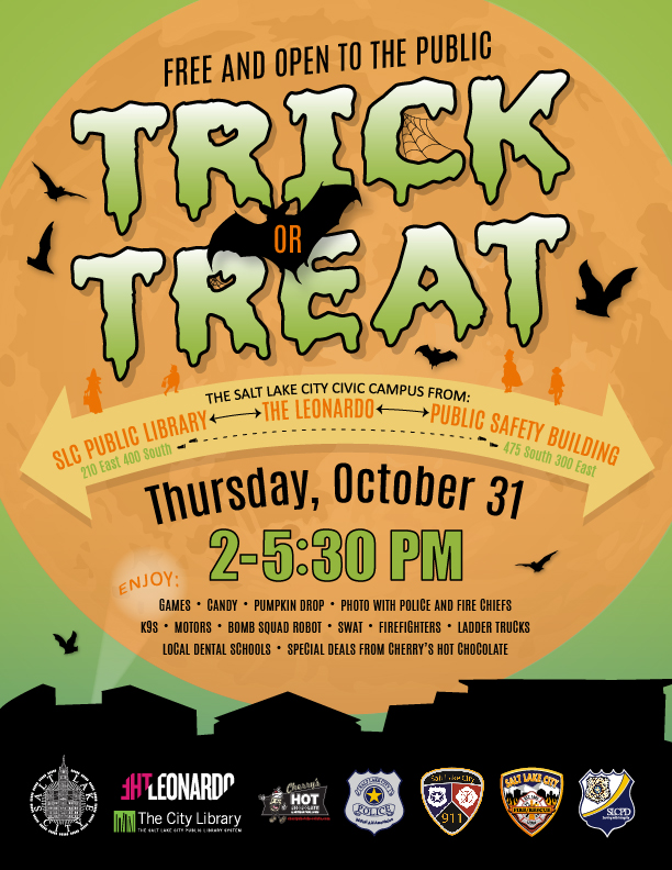 When Is The Halloween Party At Psb 2020 Free Trick or Treat Party on PSB Plaza, Library Square – SLCPD