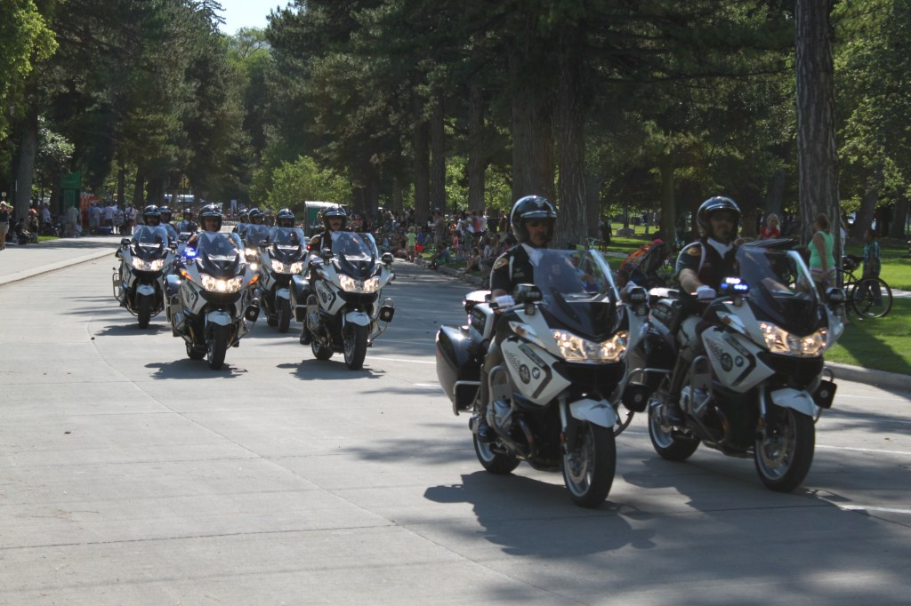 SLCPD Motor Squad enters Liberty Park during Days of '47 Parade July 24, 2014
